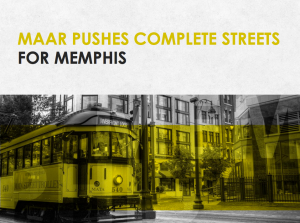 MAAR Pushes Complete Streets for Memphis